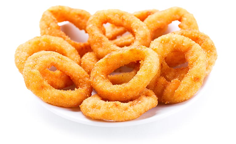 Battered and Breaded Onion Rings